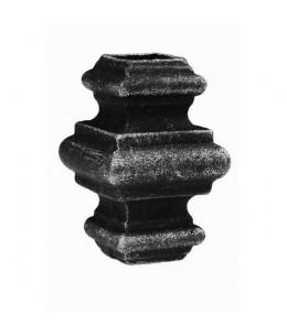 Przekuwka z otworem kwadratowym 16,5 wymiary: 65x38 mm