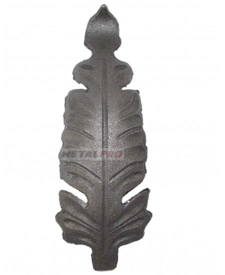 Liść metalowy 190x60/4