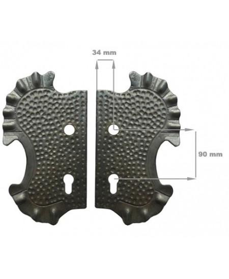 Szyld 2 otwory 90mm 290x160/4