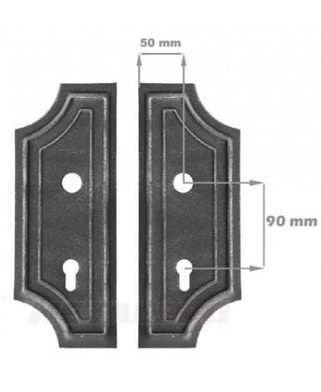 Szyld 2 otwory 90mm 280x110/2