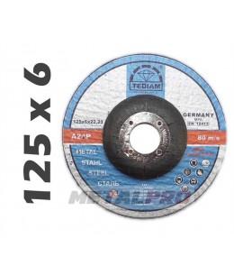 125x6,0 Tarcza do szlifowania A24P TEDIAM