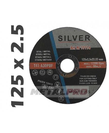 125x2,5 tarcza do ciecia SILVER