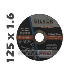 125x1,6 A60P tarcza do ciecia SILVER